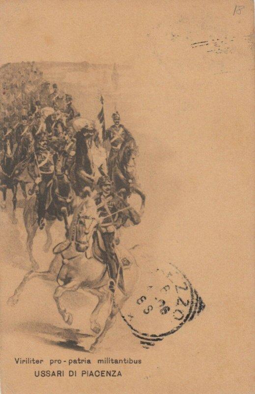 Military ; Italy , 1900-10s : Ussari Di Piacenza