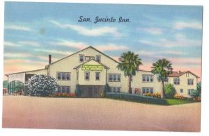 San Jacinto Inn LaPorte Houston Texas TX Linen Postcard