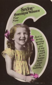 Child With Trinket Biscuit Tin Old Real Photo Birthday Postcard