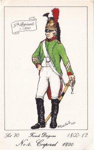 French Dragoon Corporal 1810 Soldier Napoleonic War Uniform Military Postcard