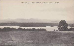 Maine Center Lovell View Of Lake Kezar Artvue