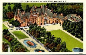 North Carolina Asheville Airplane View Of Biltmore House