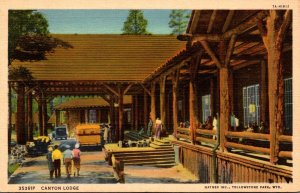 Yellowstone National Park Canyon Lodge Curteich