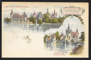 HUNGARY Millenium Exposition Views of Budapest Used c1896