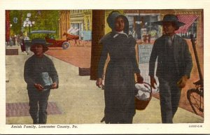Pennsylvania Lancaster County Typical Amish Family Curteich