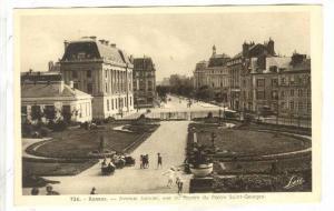 Avenue Janvier, vue du Square du Palais Saint-Goerges, Rennes, Ille et Vilane...