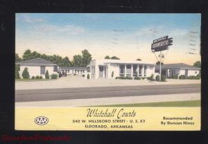 ELDORADO ARKANSAS WHITEHALL COURTS MOTEL LINEN VINTAGE ADVERTISING POSTCARD
