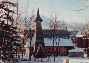Poland Zakopane Tatra Mountains, a church near Antalowka in Winter