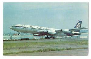 Olympic Boeing 707 384C Athens Greece Airplane Jet Vintage Aircraft Postcard