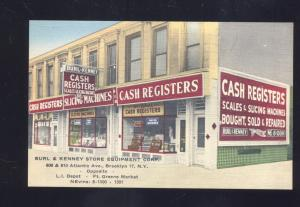 BROOKLYN NEW YORK BURL KENNEY STORE LINEN VINTAGE ADVERTISING POSTCARD NY