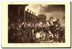 Old Postcard Musee De Versailles David Oath Dait has the & # 39empereur after...