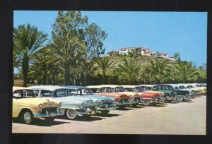 PHOENIX ARIZONA WRIGLEY RESIDENCE 1950's CARS 1955 CHEVY VINTAGE POSTCARD