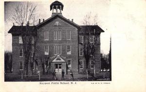 Keyport New Jersey Public School Street View Antique Postcard K104942