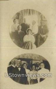 Real Photo, Bell Family in Hancock Point, Maine