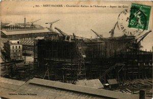 CPA ST-NAZAIRE Chantiers de Penhoet. Aspect des Cales (864374)