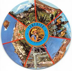 Round Clircular Postcard Tenerife, Canary Islands, Spain #939
