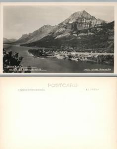 Townsite Waterton Lagos Alberta Canada Vintage RPPC Real Foto Tarjeta Postal