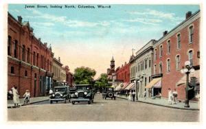 Wisconsin  Columbus , James Street looking North