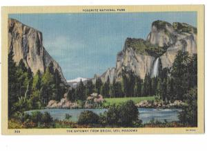 Yosemite National Park Gateway from Bridal Veil Meadows California