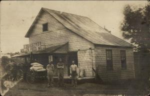 Louisburg NC Roller Feed Mill c1910 Real Photo Postcard
