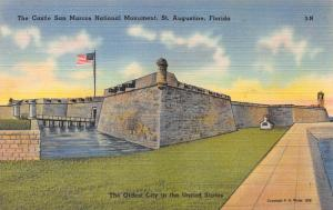 Castle San Marcos National Monument, St. Augustine, FL, Early Postcard, Used