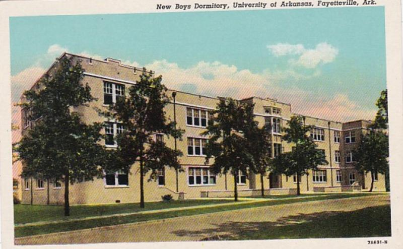 Arkansas Fayetteville New Boys Dormitory University Of Arkansas Curteich