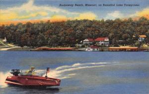 8679 MO  Lake Taneycomo   Rockaway Beach  antique speedboat