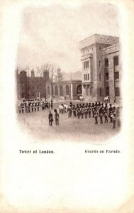 England London Tower Of London Guards On Parade