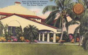 Florida Fort Myers Home Of The Rabe O Wilkinson Post No 38 American Legion