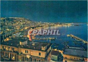 Postcard Modern Napoli night Quay