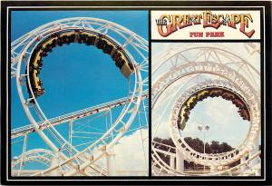 GREAT ESCAPE FUN PARK LAKE GEORGE NY POSTCARD STEAMIN DEMON ROLLER COASTER