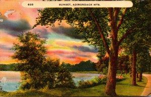 New York Adirondacks Beautiful Sunset