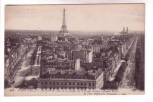 B&W Eiffel Tower Iena Klieber Ave Paris France, LL 493