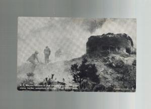 Mint RPPC Real Picture Postcard US Marines Demolish Enemy Bunker in Korea War