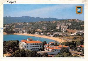 Spain S'Agaro Costa Brava, Platja Sant Pol, Saint Pol Beach Plage Panorama