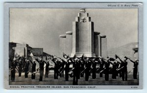 TREASURE ISLAND, San Francisco CA California SIGNAL PRACTICE c1940s Postcard
