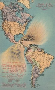 Girls kissing at Panama Canal Map , 1930s