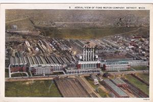 DETROIT, Michigan, 1910-1920s ; Aerial View Of Ford Motor Company