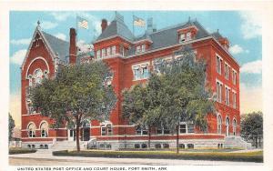 Arkansas Ar Postcard FORT SMITH c1910 COURT HOUSE U.S. POST OFFICE Building