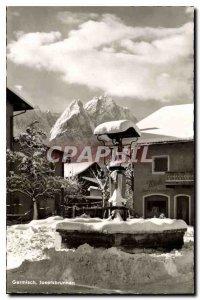 Old Postcard Garmisch Josefsbrunnen