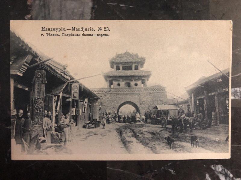 Mint Manchuria China RUSSIA RPPC Postcard The Blue Towel
