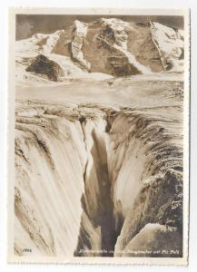 RPPC Pers Glacier Crevasse Switzerland Piz Palu Real Photo