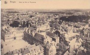 Belgium Bruges Hotel de Ville et Panorama