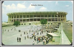 Mexico Aztec Stadium Postcard