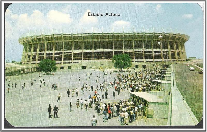 Mexico Aztec Stadium Postcard