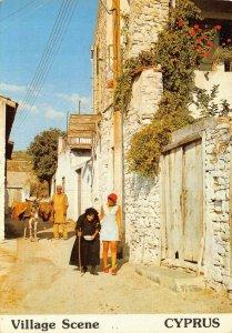 Cyprus village scene postcard