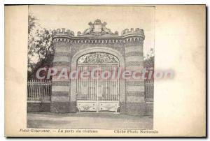 Old Postcard Small Gouronne La Porte Du Castle