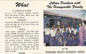 Lillian Doerksen with The Honeysuckle Family Ramabai Mukti Mission India