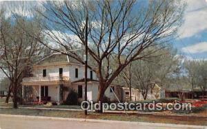 Abilene, KS, USA Postcard Boyhood Home of President D Eisenhower