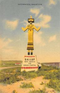 Gallup New Mexico Katchina Doll Street View Antique Postcard K102795